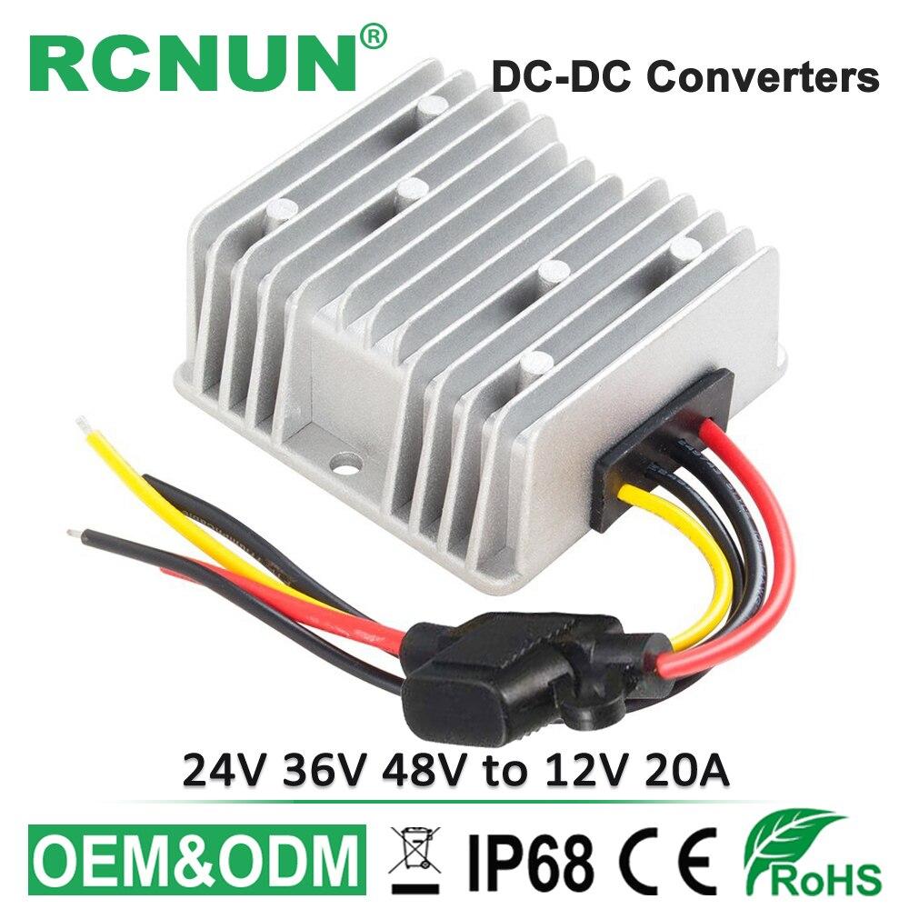 48v To 12v 20a 240w Voltage Reducer Dc Step Down Converter Ce Club Car Wiring Diagram Rcnun New 24v 36v Stabilizer Golf