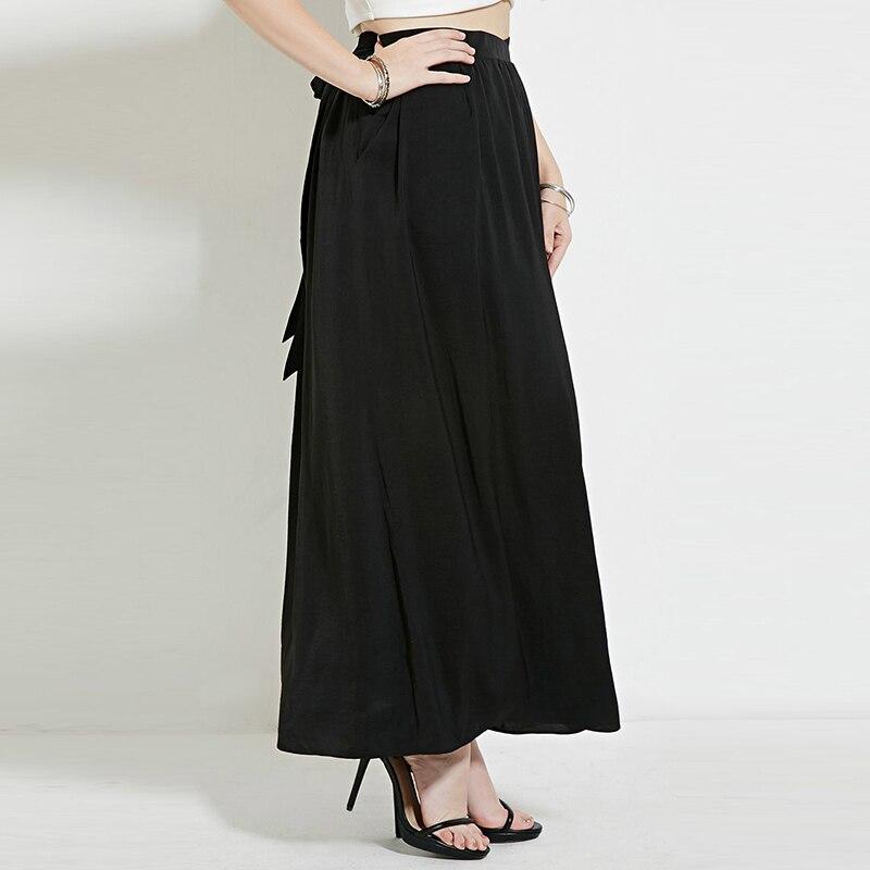 bow maxi skirt