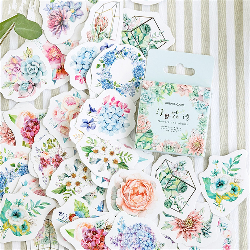 46 Pcs/Pack Kawaii Japanese Decoracion  Flower Stickers Scrapbooking Flakes Journal Cute Diary Stationery School Supplies46 Pcs/Pack Kawaii Japanese Decoracion  Flower Stickers Scrapbooking Flakes Journal Cute Diary Stationery School Supplies