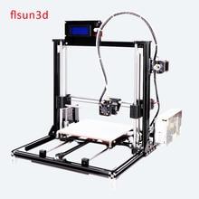 2016 New Aluminium Structure flsun3d 3D Printer DIY Prusa i3 3d Printer Kit Heated Bed Two Rolls Filament 8GB SD Card