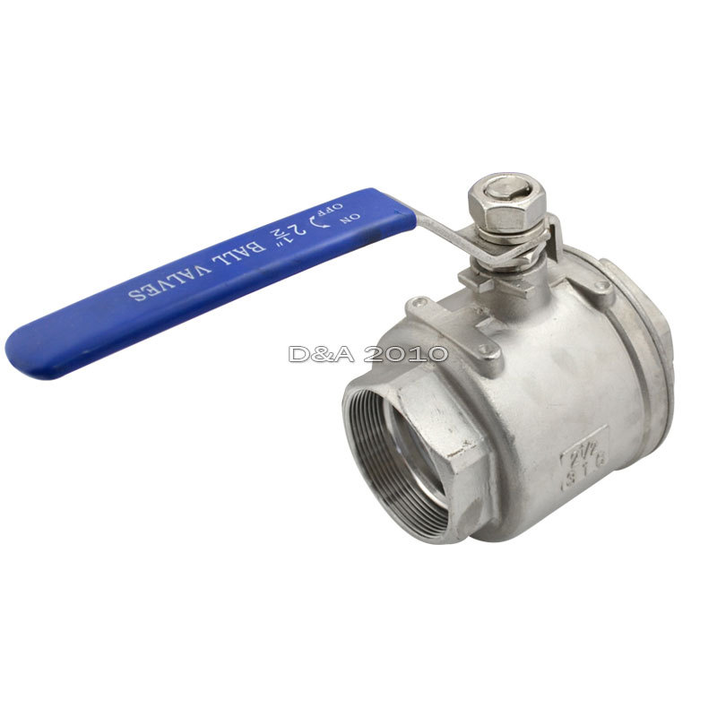 MEGAIRON BSPT 2 5 Female Stainless Steel SS316 2 Piece Full Port Ball Valve with Vinyl