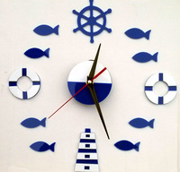 Diy Modern Acrylic Watch Mirror Wall Clock Living Room Bedroom Decorative Wall Stickers Mirror Tile Adesivo