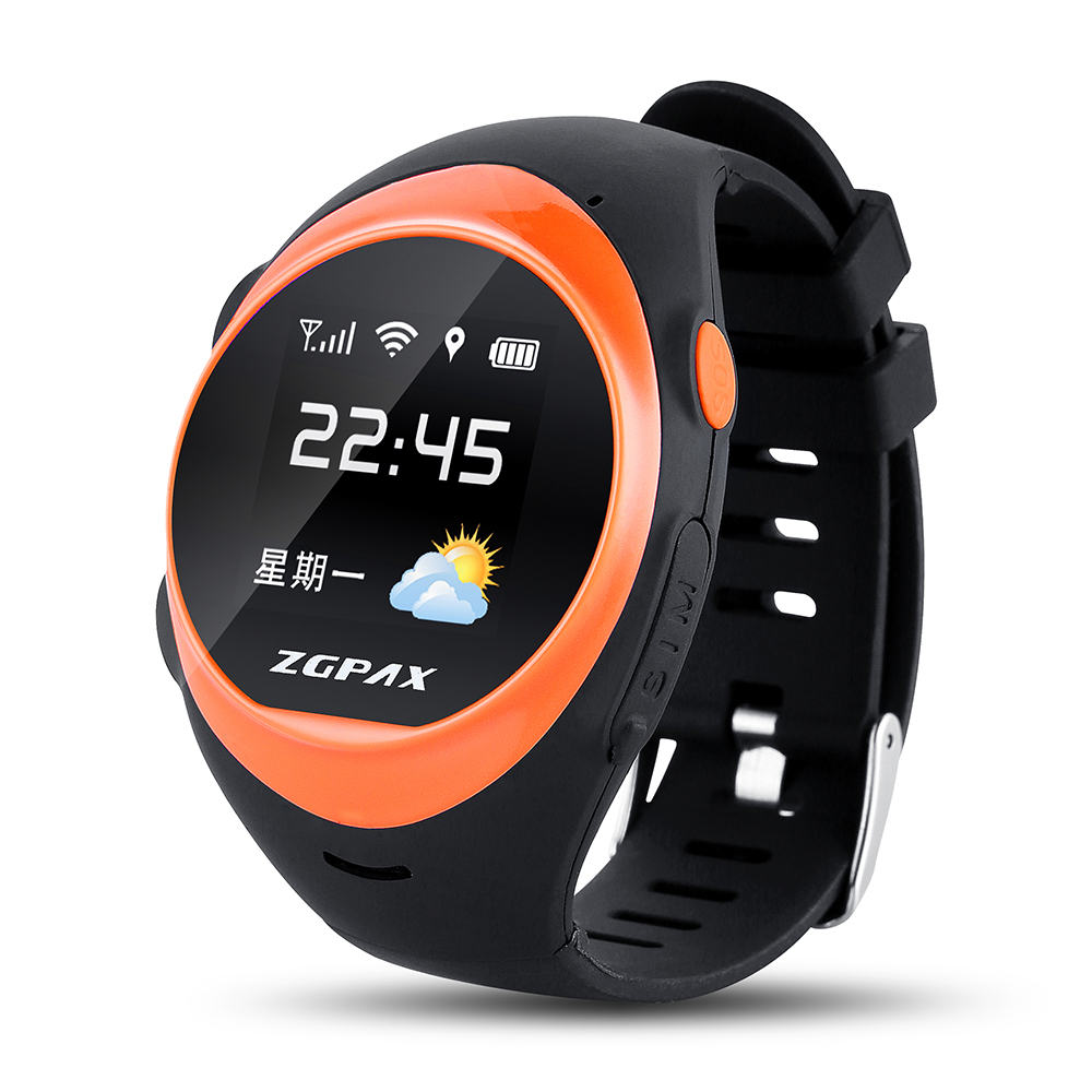 ФОТО New Upgrade ZGPAX S888A GSM GPS Watch With WiFi GPRS LBS GPS Tracking Pedometer SOS Geo-fence Weather And Anti-falling Alarm.
