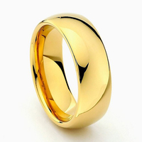 Wholesale Gold Color Tungsten Carbide Rings Men Women Wedding Band Hot Sale in Brazil