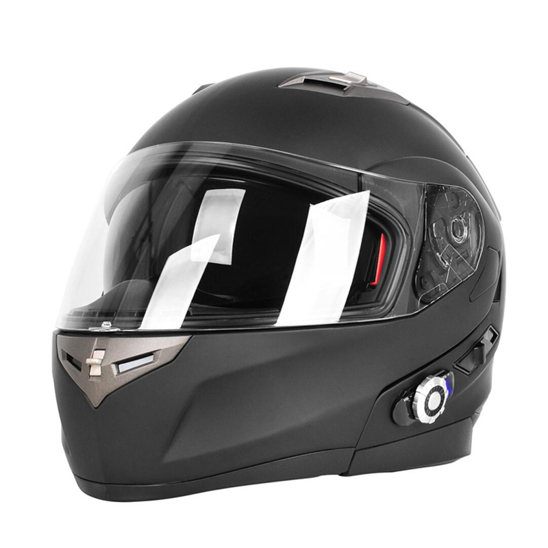 Double Lens Bluetooth Motorcycle Helmet With FM Radio Built In BT Intercom System BM2-S