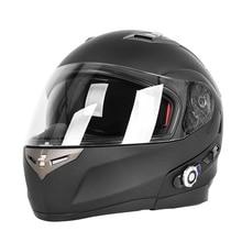 Двойные Линзы Bluetooth Мотоциклетный Шлем С Fm-радио Встроенный BT Домофон BM2-S