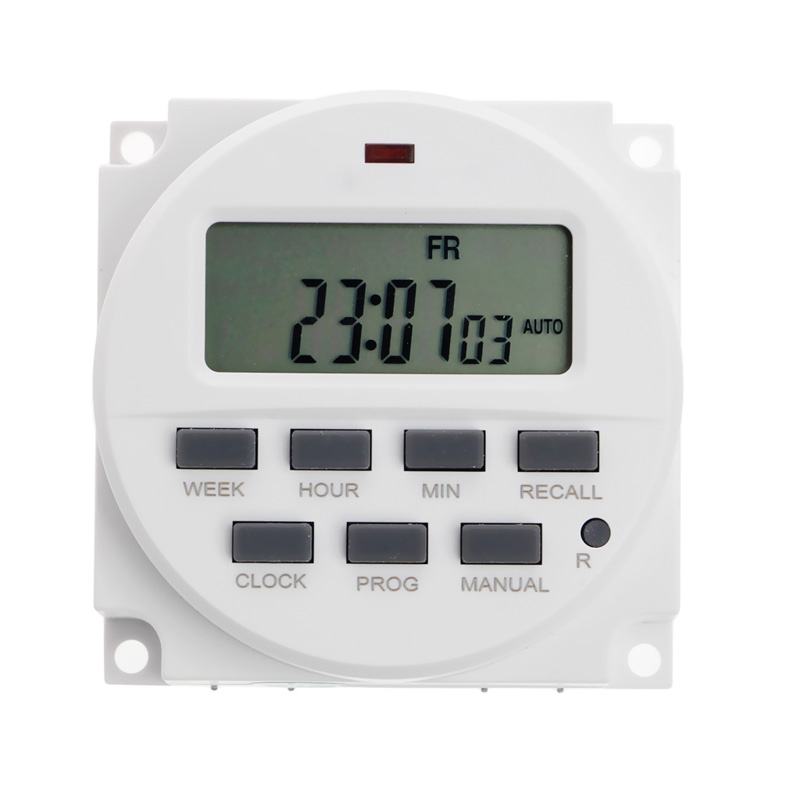 15.98 Inch LCD Digital Timer 12V DC 7 Days Programmable Time Switch TM618N-4