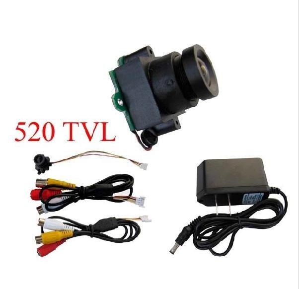 Special Price !!! 008Lux,10~120 Degree View Angle  520TVL Super Mini Camera CCTV Camera Free Shipping