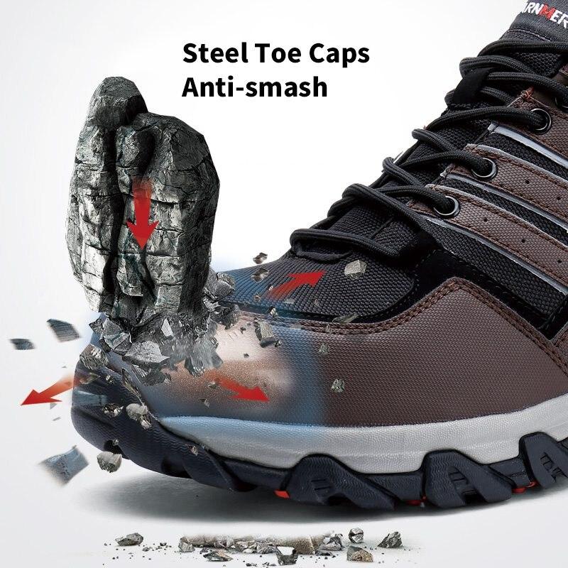 Faixa Larnmern modyf Segurança Com Botas Biqueira Neve Quente Homens Sapatos Ar Especial Larnmern Trabalho Inverno Aço Fur Livre Reflexiva Ao De Calçado q7pcRg