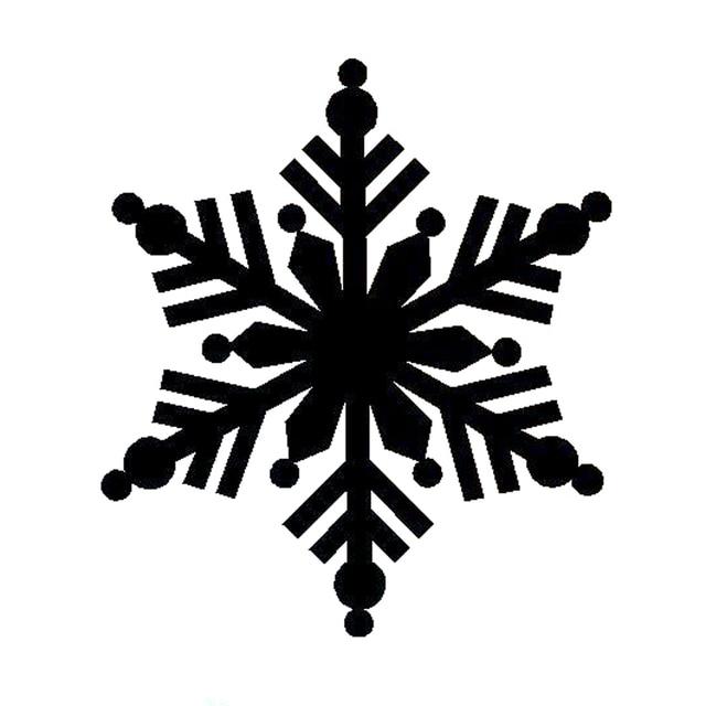 14cm158cm Interesting Cartoon Snowflake Silhouette Vinyl Car