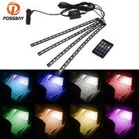 POSSBAY LED Car Atmosphere Lights Decoration Lamp 12V Auto LED Interior Light 9LED/12LED/18LED Floor Foot Lights