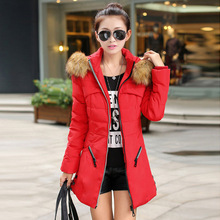 New 2015 Winter Jacket Women Red Female Outerwear Wadded Plus Size 4XL Thick Casual Down Cotton Wadded Coat Women Parkas D34