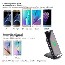 10W Quick Charge Qi Wireless Charger Transmitter Plate Pad Stand Holder For Samsung Galaxy s6 s7 s8 plus For iphone 8 plus x
