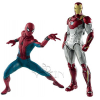18cm Spider Man Homecoming Spiderman 26cm Iron Man MK47 PVC Figure Collectible Model For Children Toys