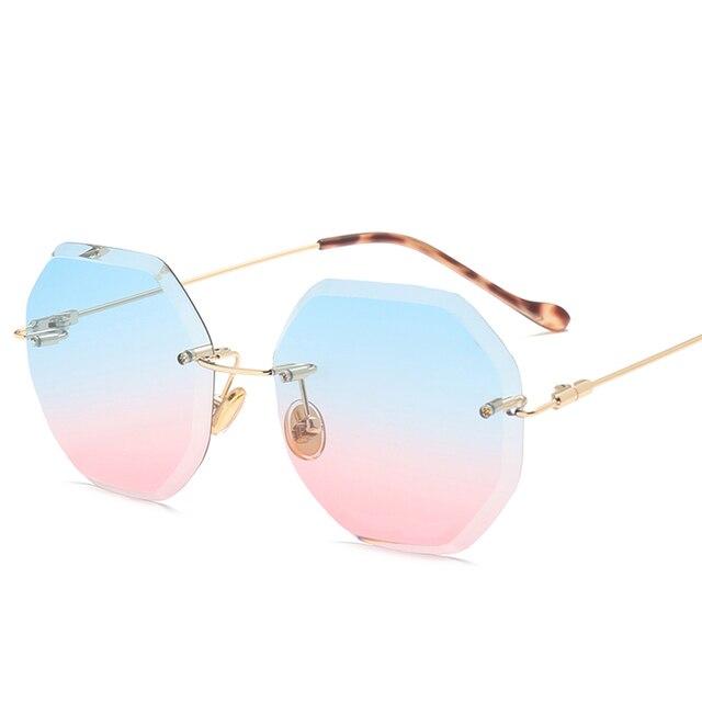 366c73e97 مسدس بدون شفة النظارات فرملس ظلال نظارات شمسية رجالية النماذج الكلاسيكية  الزجاج للرجال الشهيرة الشمس