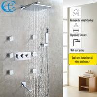 Air Drop Water Saving Bathroom Shower Faucet Set Easy-Installation Rain Bath & Shower Head Hot And Cold Mixer Faucet Valve