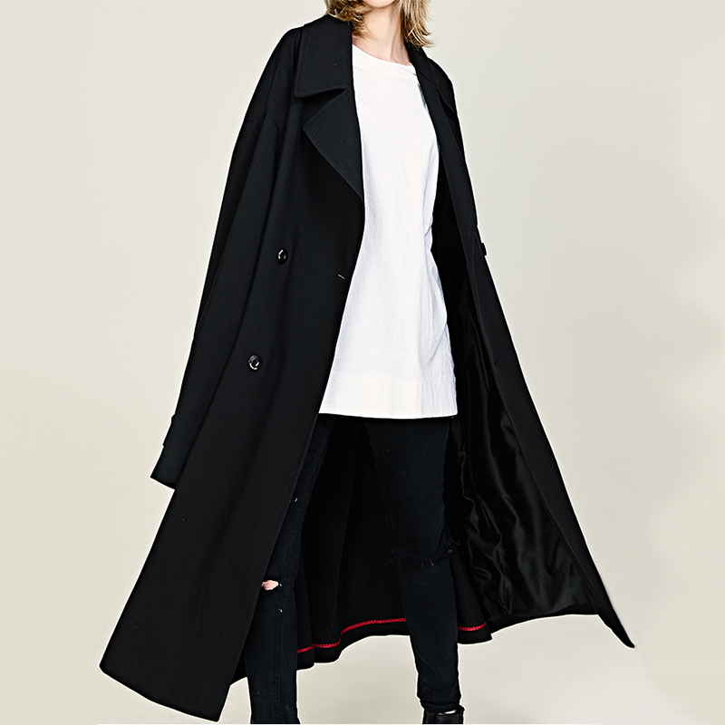 Autumn New Men Loose Trench Jacket Male Women Double Breast Windbreaker Coat Fashion Casual Trench Outerwear Coat