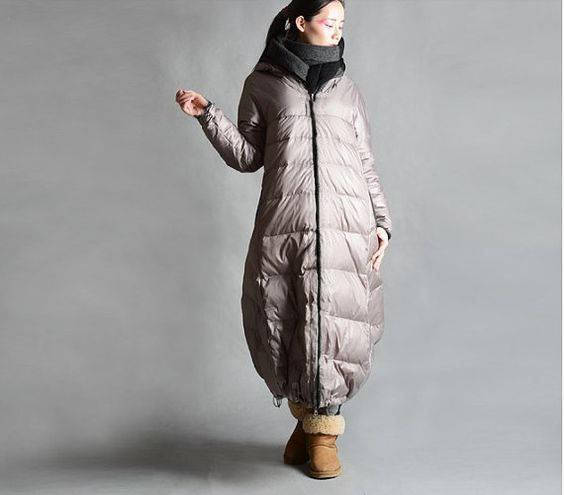 Women Thick   Down     Coat   Loose Style Winter   Coat   Large Hood   Down     Coat   Bat Style   Down     Coat