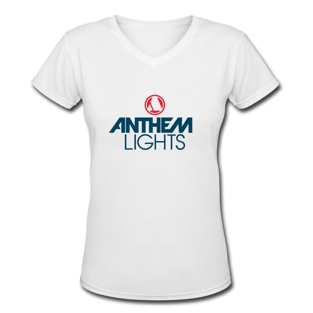 Free Shipping Anthem Lights Shirts Skateboard Organic Cotton Girl