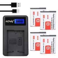 4Pc Digital Camera Bateria NP BG1 Battery NP BG1 FG1 NP FG1 LCD USB Charger For