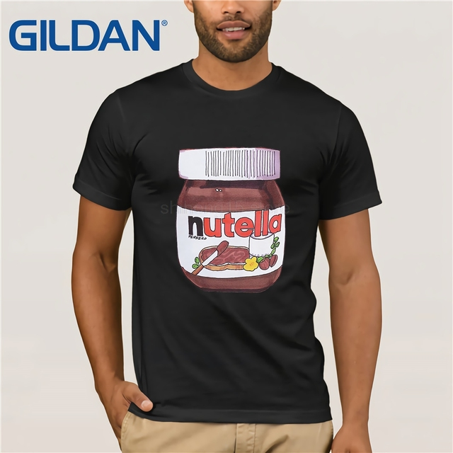 17aed31b2 100% Cotton T Shirts Brand Clothing Tops Tees Nutella Jar Drawing Realistic  Like In Your Fridge Quality Mens T-shirt