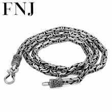 925 Sterling Silver Necklace Men Jewelry Big Statment 4mm 5mm 8MM 100% S925 Solid Silver Chain Necklaces Male Jewelry Making - DISCOUNT ITEM  30% OFF All Category