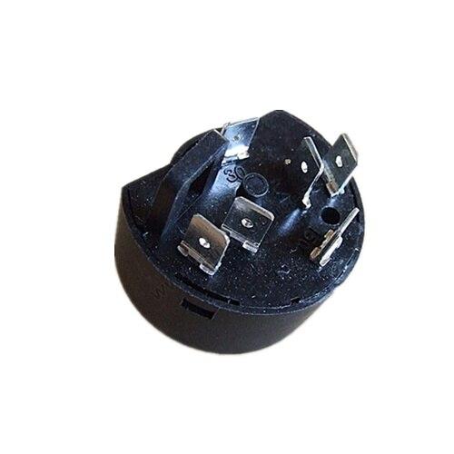JZK 6 x Negro interruptor del cable del cable de la l/ámpara interruptor de torpedo AC 250V 10A con luz indicadora LED para electrodom/ésticos peque/ños o lampara