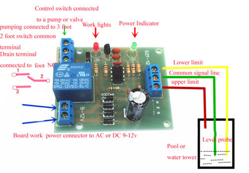 liquid level controller circuit diagram run capacitor wiring air conditioner ac/dc 9 12v sensor module water detection sensor-in flow sensors ...