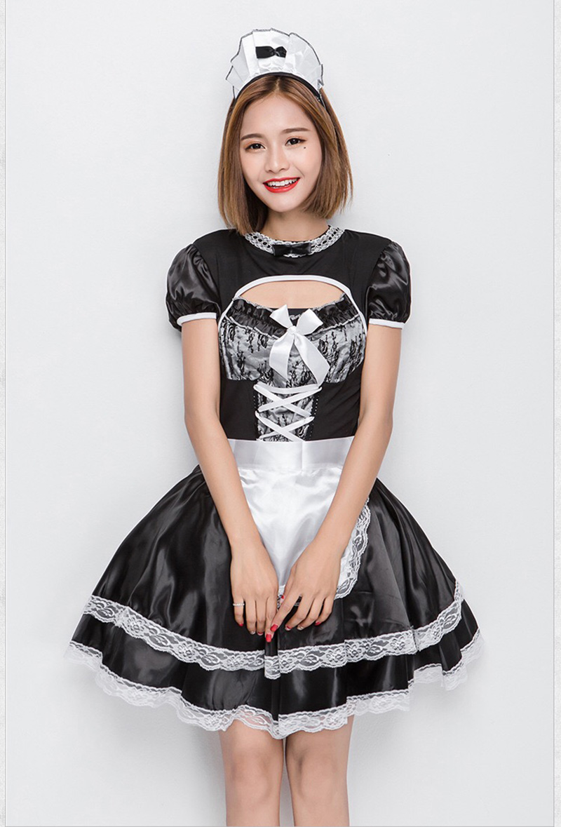 Concurrence join. young teens in french maid costumes