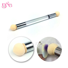 1pc Double Sponge Head Nail Brush + 4pcs Changeable Sponges For DIY Nail Art Painting Gradient Virtuoso Ease Manicure Tools