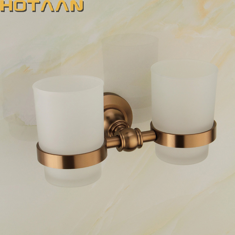 New Arrival Aluminium double Tumbler Holder Cup & Tumbler Holders Toothbrush Holder Bathroom Accessories Banheiro YT-10897 полка дл обуви мастер лана 3п пол 3п орех итальнский мст пол 3п ои 16