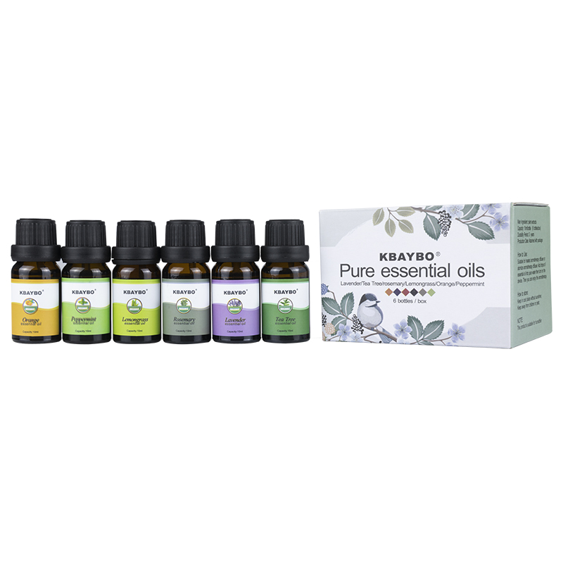 Essential Oils Aromatherapy Oil For Aroma Diffuser Humidifier 6 Kinds Fragrance Of Lavender Tea Tree Rosemary Help Sleep