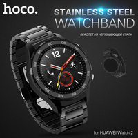 HOCO Black Stainless Steel Strap for HUAWEI Watch 2 Sport Band for Huami Amazfit Bip Smart Watch Wrist Replacement Strap 20mm