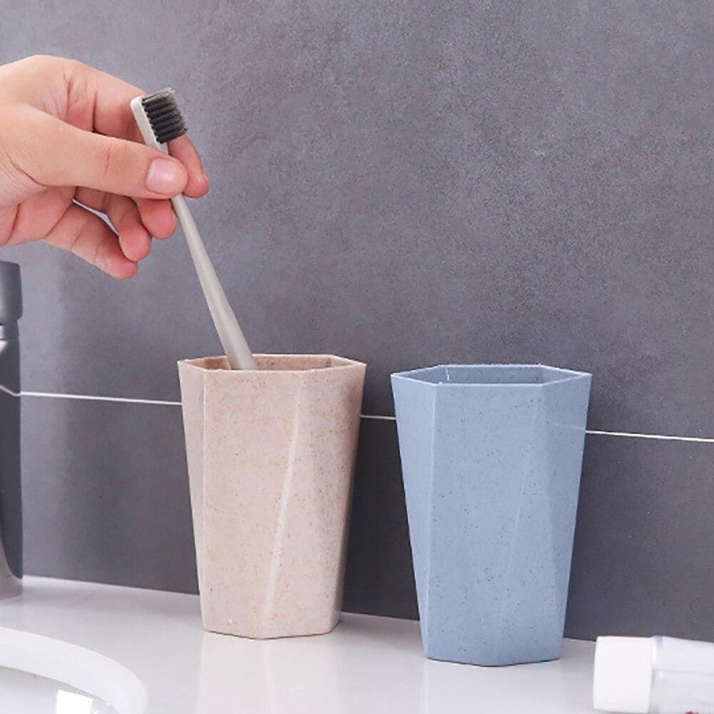 Eco-friendly Wheat Straw Gargle Mug Tooth Brush Home Travel 24