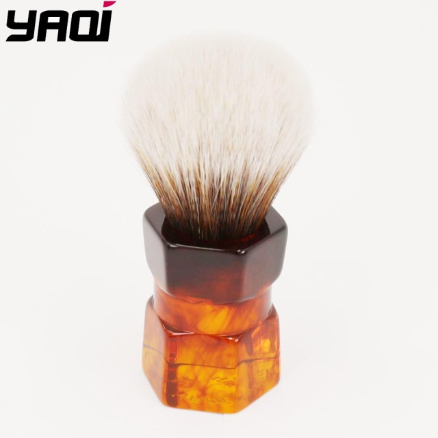 Yaqi 24mm Moka Express Capelli Sintetici Pennello Da Barba