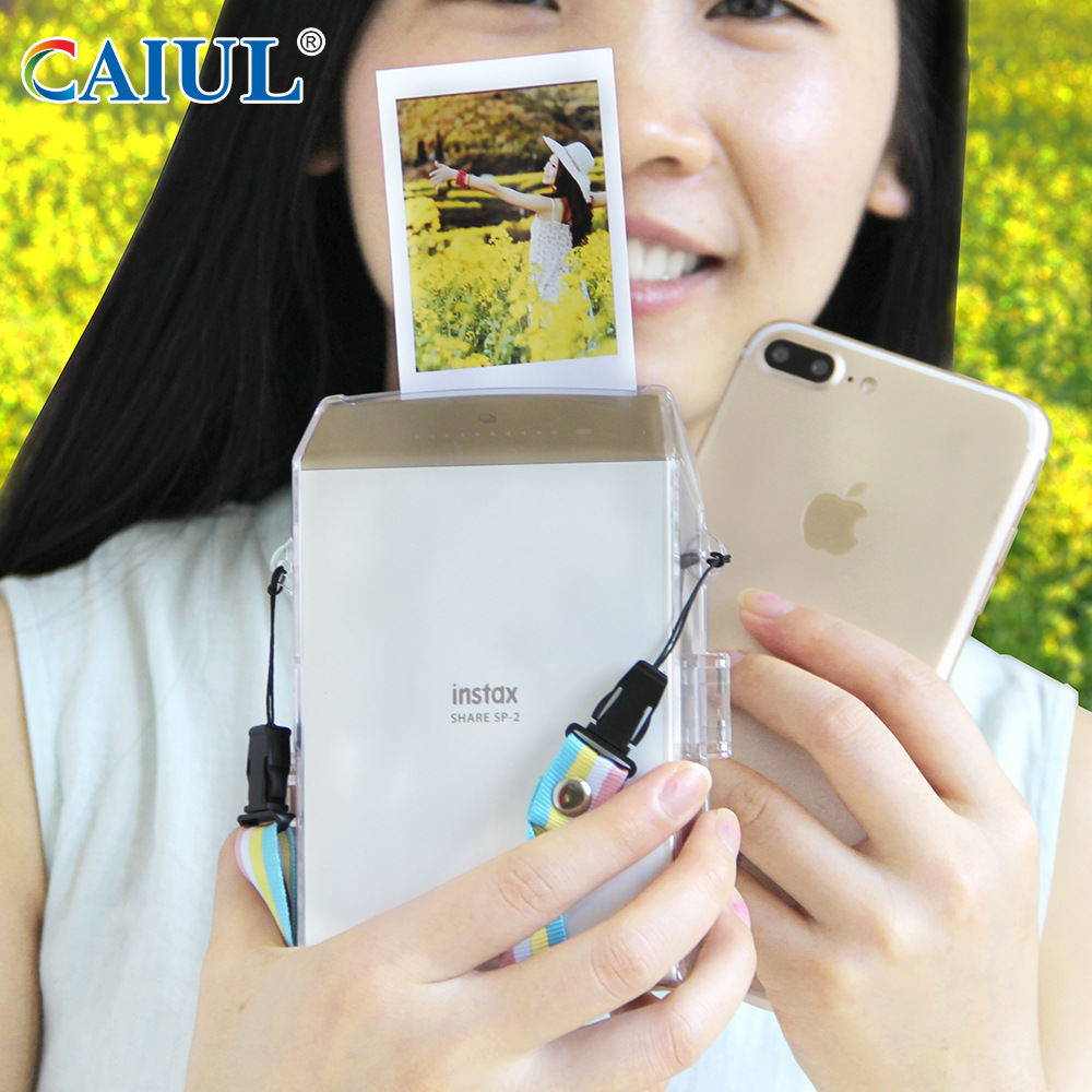 CAIUL Transparent Protect Hard Case for Fujifilm INSTAX SHARE SP-2 Smart Phone Printer