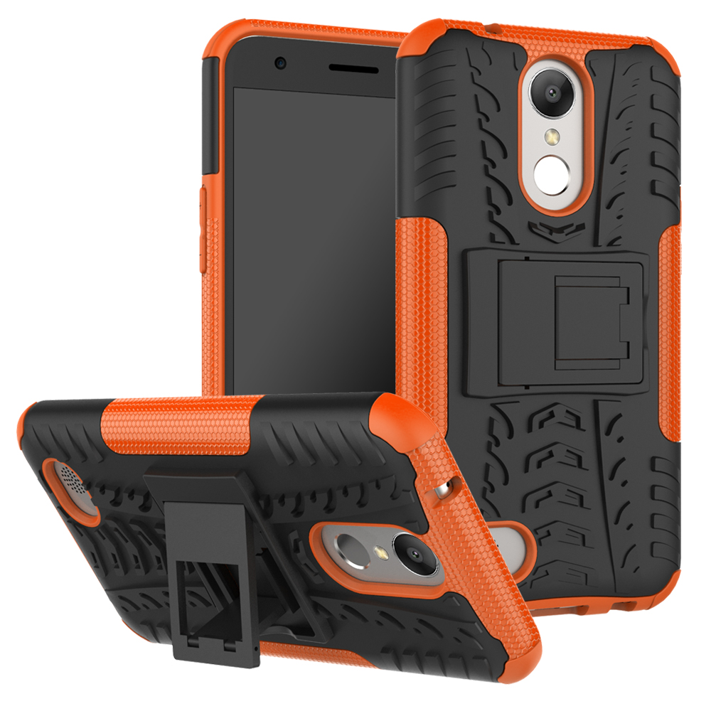 2 In 1 Heavy Duty Strong Rugged Armor Tire Style Hybrid TPU PC Hard Stand Bracket Cases For LG K10 2017 US/ LV5/K20V/K20 Plus