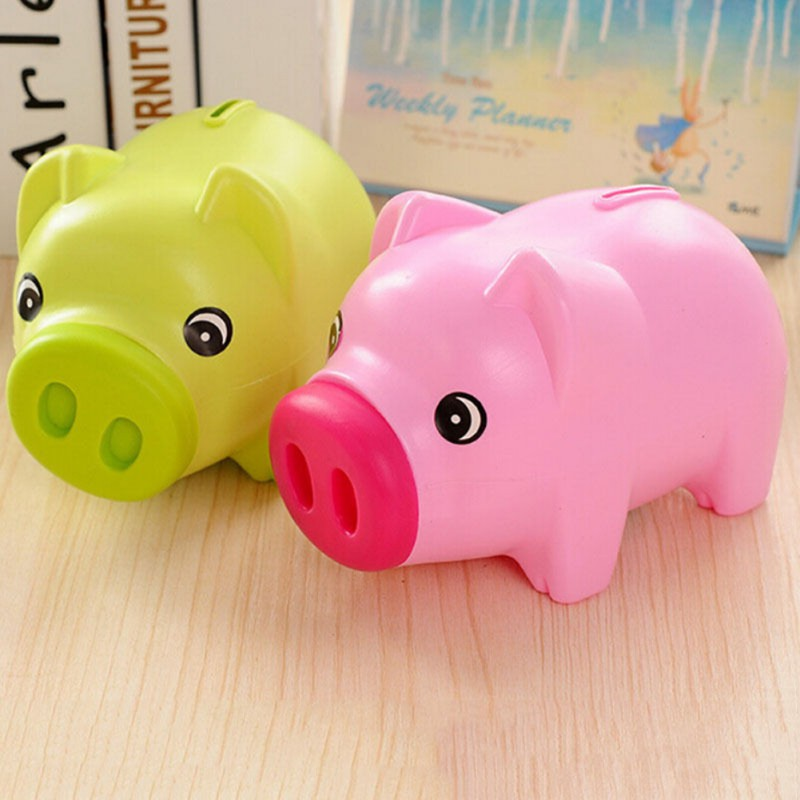 Cute plastic piggy money boxes bank saving cash coin money Plastic piggy banks for kids