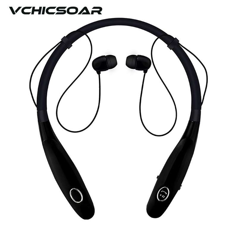 Vchicsoar Bluetooth Headset Wireless Neckband Headphones V4.2 TWS Stereo Sports Handsfree Earphones with Mic for Mobile Phone picun p3 hifi headphones bluetooth v4 1 wireless sports earphones stereo with mic for apple ipod asus ipads nano airpods itouch4
