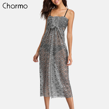 Charmo Women Cover-Up Beach Pareo Sarong Bikini Cover Up Beach Dress Swimsuit Women Swimwear Sexy Cover-ups wrap Bathing Suit sexy cotton bathing suit cover ups summer beach dress tassel trim bikini swimsuit cover up beach wear pareo sarong