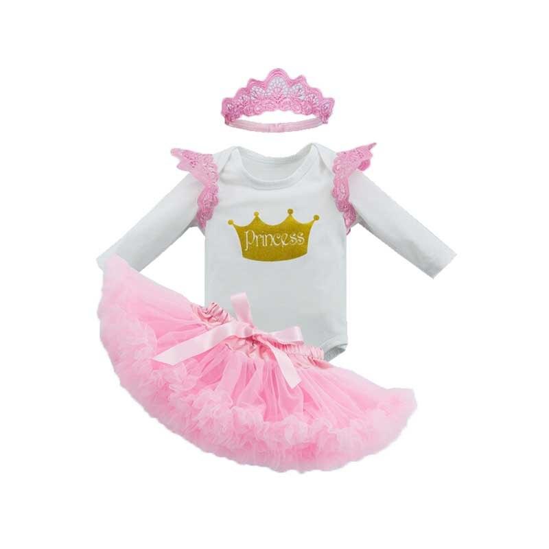 Fashion Roupas Bebes Newborn Girl Clothing Set Wing Sleeve Bodysuit+Tutu Skirts+Headband 3pcs Sets Pink Clothes Brand Clothing
