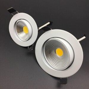 Image 3 - ניתן לעמעום Led downlight אור COB תקרת ספוט אור 5W 7W 9W 12W 85 265V תקרה שקוע אורות מקורה תאורה