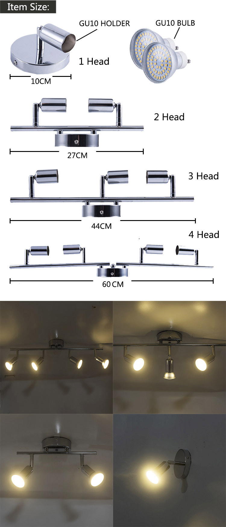 HTB1T.QjLHvpK1RjSZFqq6AXUVXaG angle adjustable Rotatable led ceiling light showcase with GU10 led bulb Living Room LED cabinet spot lighting