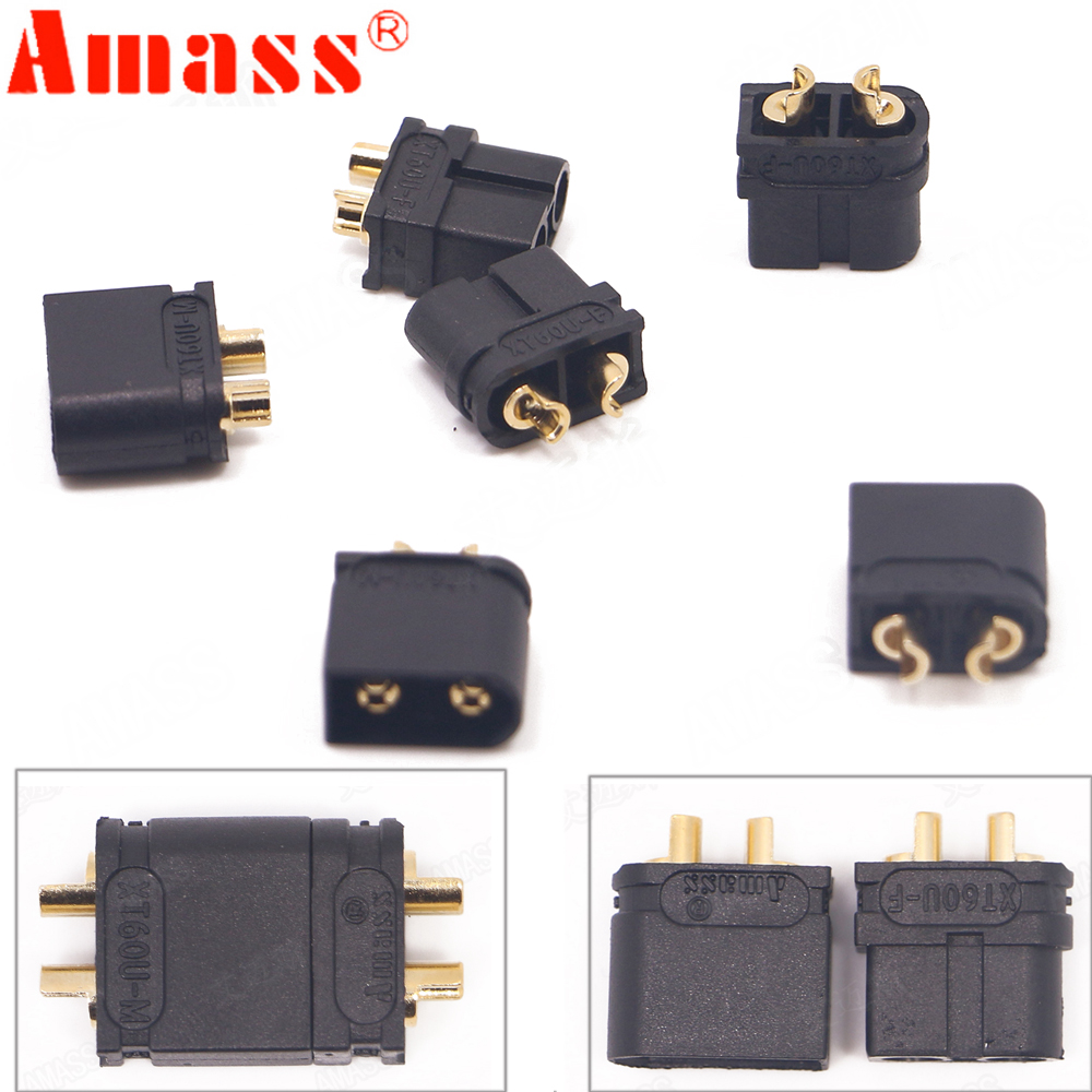 100 X  Amass XT60U Male Female Bullet Connectors Plugs For Lipo Battery Upgraded XT60 (50 Pair )