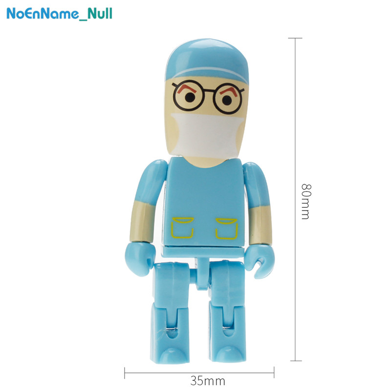 Image 5 - USB 2.0 PenDrive 128GB high quality 32GB Nurse USB Flash Drive 64GB for gift portable Pen Drive dentist plastic Storage u disk-in USB Flash Drives from Computer & Office