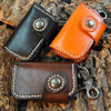 Genuine Leather Vintage Retro Simple Style Car Key Bag Wallets Top Quality Auto Key Chain Multifunction