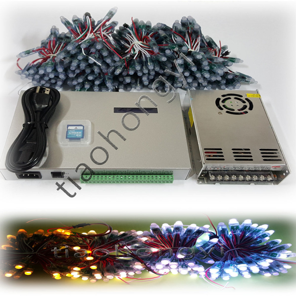 3000pcs 12mm led WS2811 RGB Pixels digital+T300K controller+5V 60A POWER 4PCS 3000pcs 78l05 l05 sot 23 5v original new