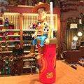400 ml garrafa de água presente das crianças Dos Desenhos Animados Woody PVC Figura de Ação para crianças Garrafa de Água Bebida ware Copos De Palha bebê copo