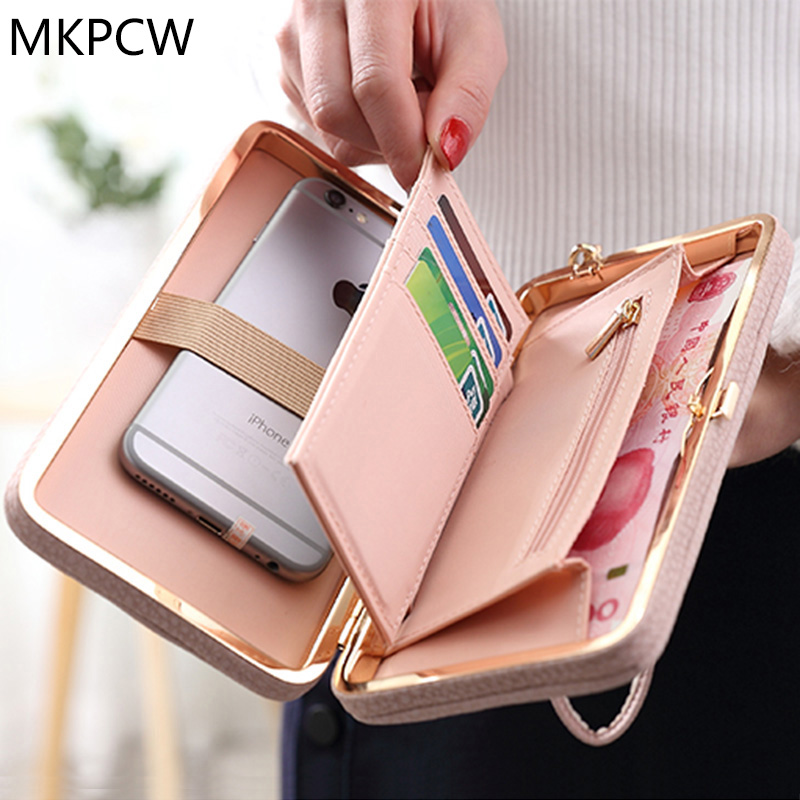 a313412f86e Vrouwen Casual Mode Lange Portemonnee Boog Verse Luxe Card Geld Telefoon  Houder Grote Capaciteit Purse Dames Mooie Dag Clutch Bag in Vrouwen Casual  Mode ...