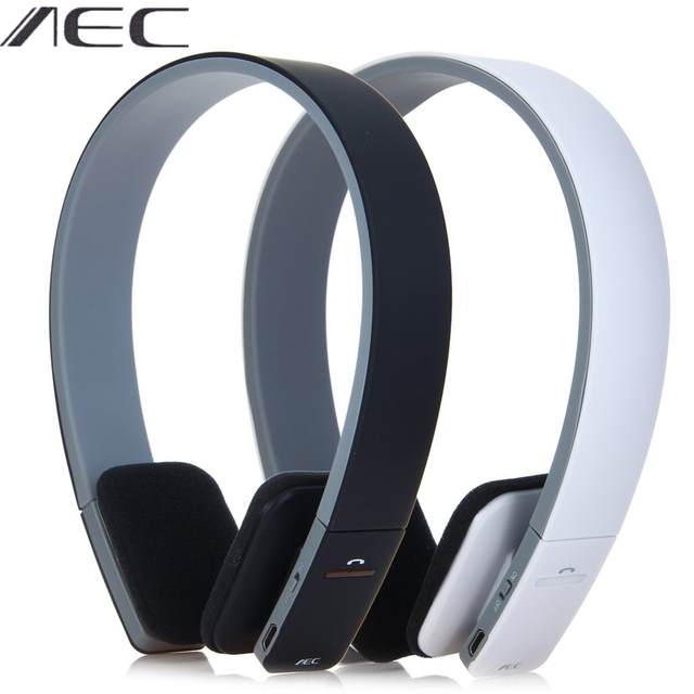 AEC BQ-618 Wireless Bluetooth Headset Handsfree Headphone with MIC Support 3.5mm Stereo Audio Earphone for Phone Tablet PSP